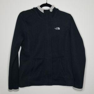 North Face Navy Blue Fleece Zip-Up Hoodie Size M